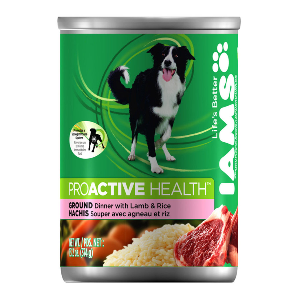 View larger image of Canned Dog Food, ProActive Health Adult, Ground Dinner with Lamb & Rice - 13.2 oz