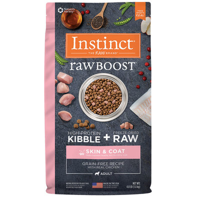 Adult - Raw Boost Grain Free Skin & Coat - Chicken