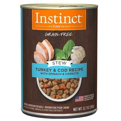 Can, Adult Stews Turkey, Cod w/ Spinach - 360 g