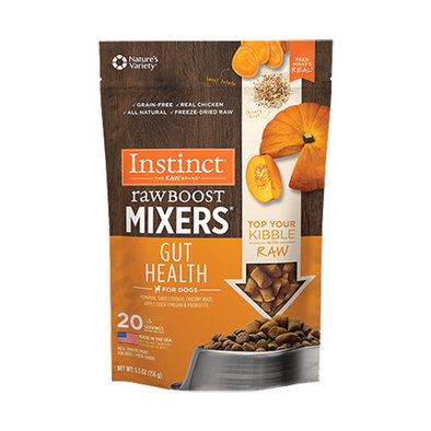 Raw Boost Mixers Gut Health Freeze-Dried Dog Food Topper, 156 g