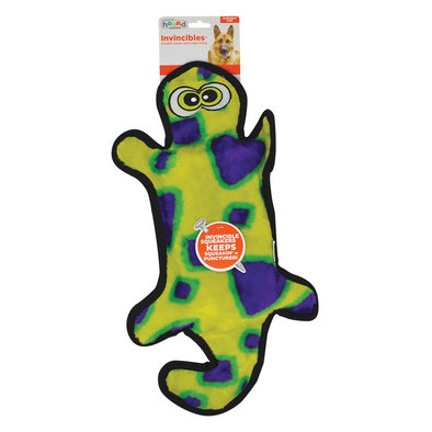 Invincible Gecko, 4 Squeakers - Yellow/Green