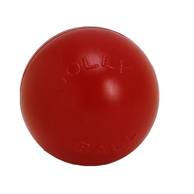 Hard Plastic Toy, Push-n-Play Ball - Red - 10""