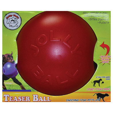 Hard Plastic Toy, Teaser Ball - Red