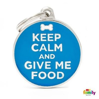 Keep Calm and Give Me Food Tag