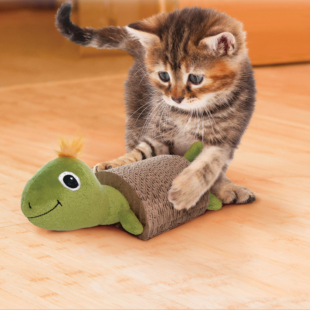 View larger image of Cat Scratcher with Toy - Turtle