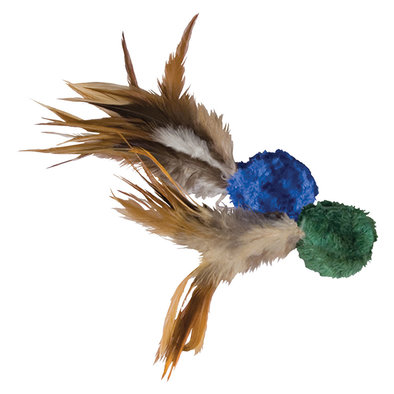 Crinkle Ball with Feathers