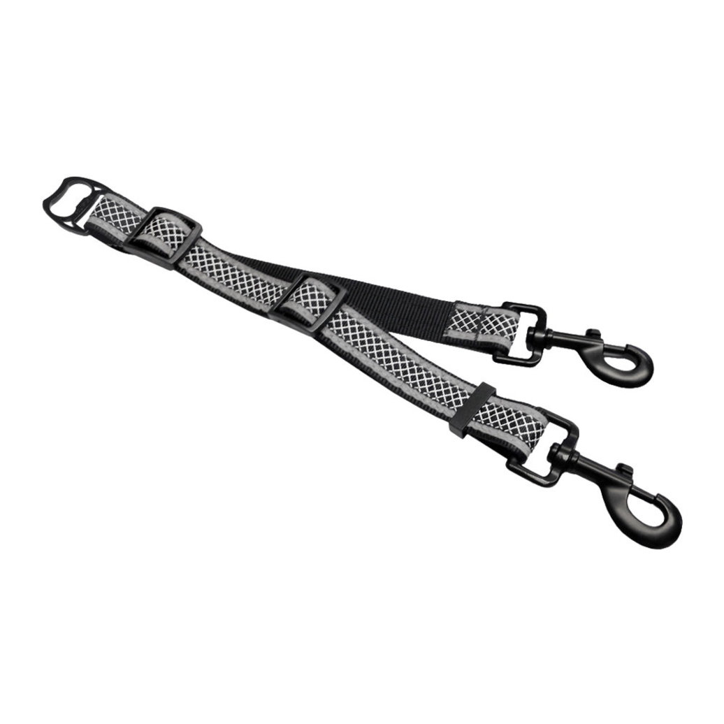 View larger image of Wander Double Dog Leash Extender - Black