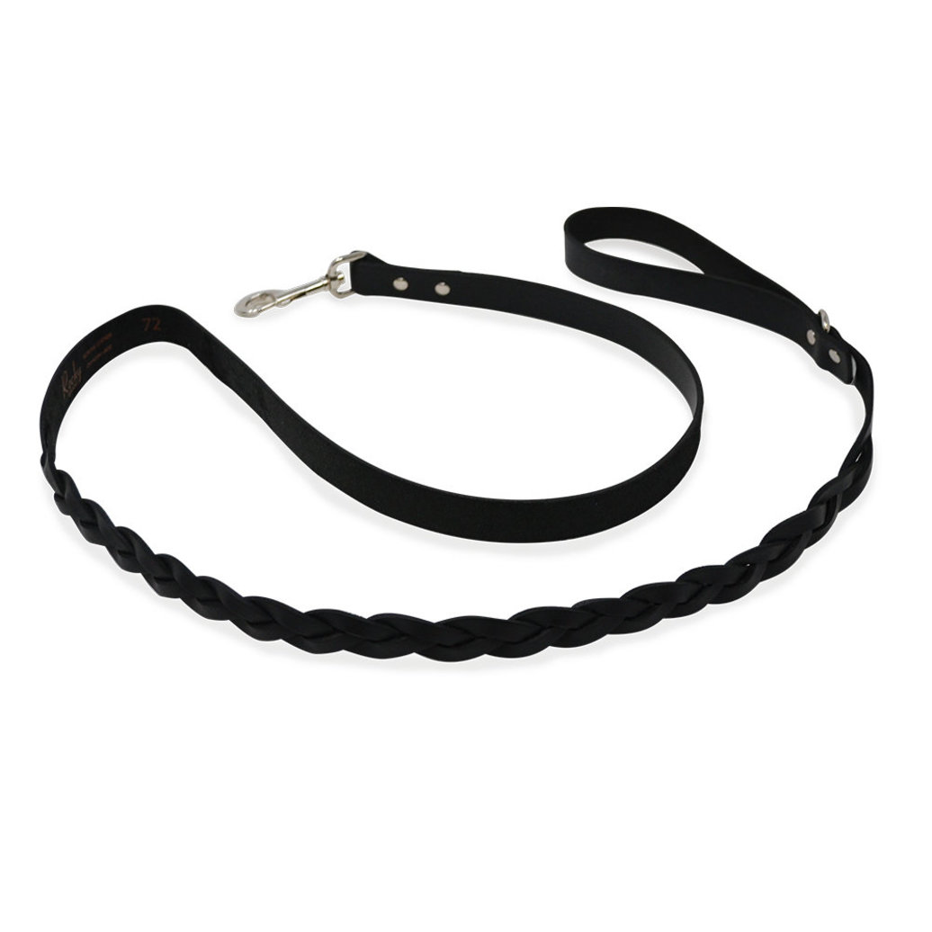 "View larger image of L - Leather Braided - Black - 1"" x 6'"