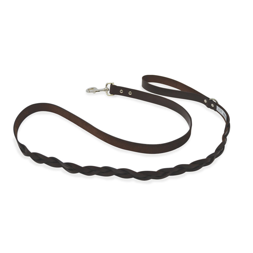 "View larger image of L - Leather Braided - Brown - 1"" x 6'"