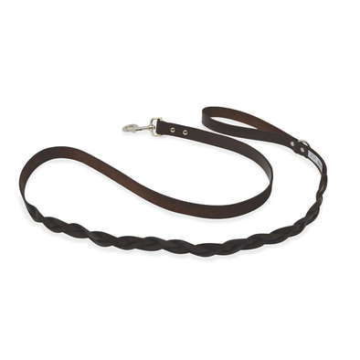 "L - Leather Braided - Brown - 1"" x 6'"