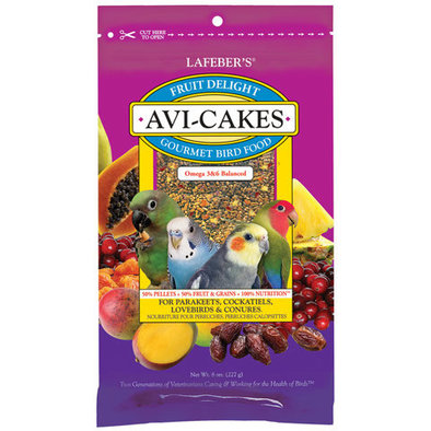 Avi-Cakes, Fruit Delight for Parakeets, Cockatiels, Lovebirds & Conures - 8 oz