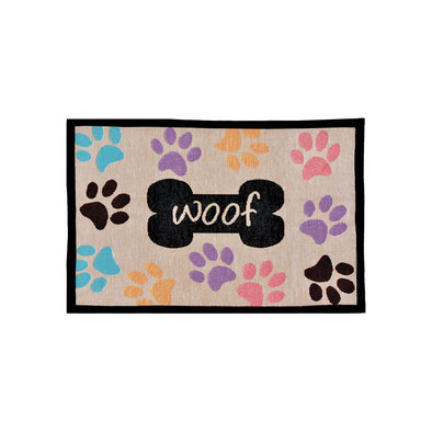 Bella Fashion Mat - Woof w/ Multi Paws