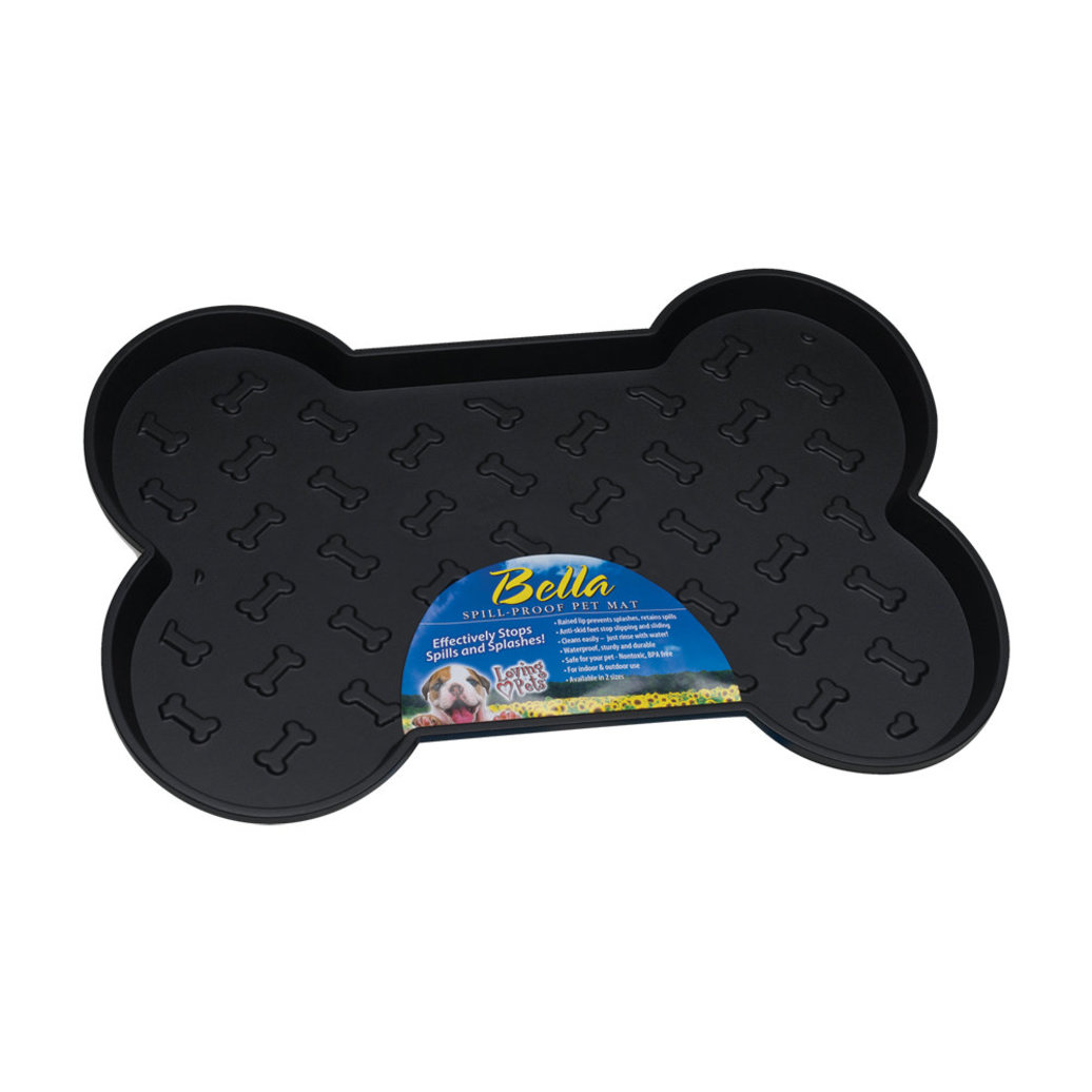 View larger image of Bella Spill-Proof Dog Mat - Black