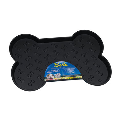 Bella Spill-Proof Dog Mat - Black