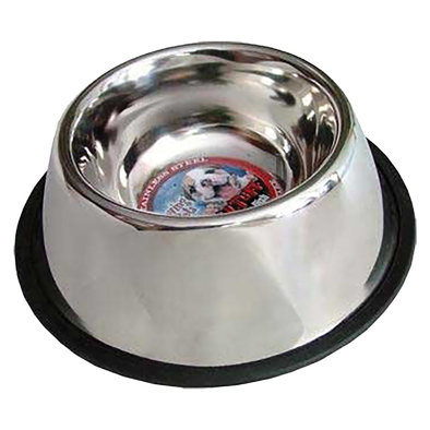 Ruff N' Tuff Stainless Steel Deep, No-Tip Dish, Long Eared Dog - 1 Qt