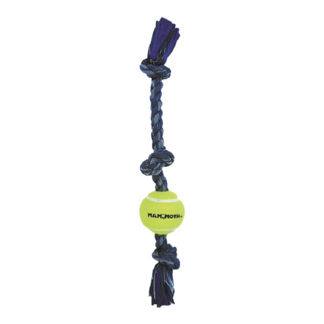 View larger image of Denim Rope 3 Knot Tug w/Mini Ball - 12""
