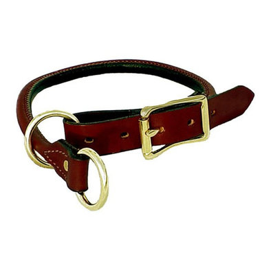 Rolled Leather Training Collar