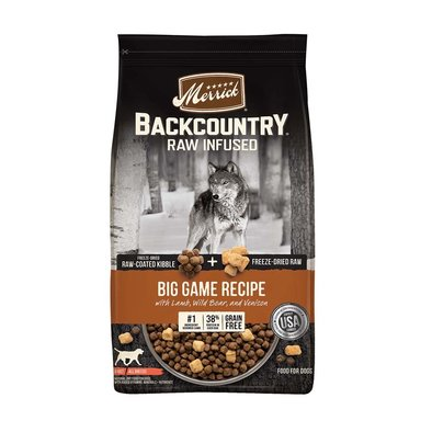 Grain Free Backcountry Raw Infused Big Game