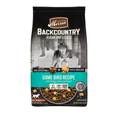 Grain Free Backcountry Raw Infused Game Bird