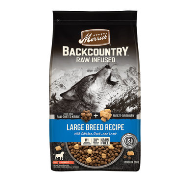 Grain Free Backcountry Raw Infused Large Breed - 9.07 kg