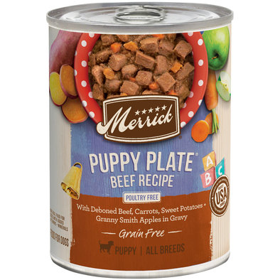 Can, Puppy Plate - Beef - 360g