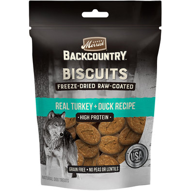 Backcountry Freeze Dried Raw Coated Biscuit - Turkey & Duck - 283 g