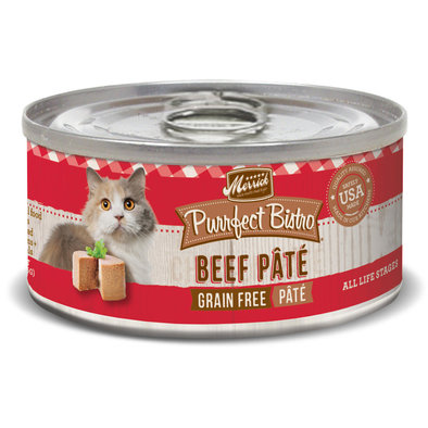 Purrfect Bistro Grain Free Cat Can, Beef Pate