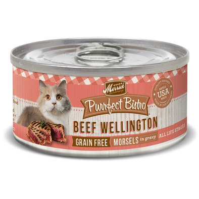 Purrfect Bistro Grain Free Cat Can, Beef Wellington