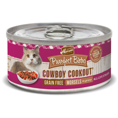 Purrfect Bistro Grain Free Cat Can, Cowboy Cookout