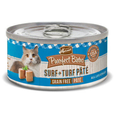 Merrick, Purrfect Bistro Grain Free Cat Can, Surf & Turf