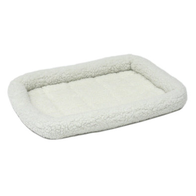 Quiet Time, Bolster Bed, Synthetic Sheepskin, Fleece