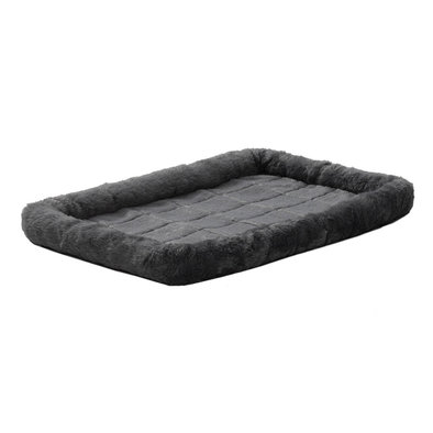Quiet Time, Bolster Bed, Synthetic Sheepskin - Gray
