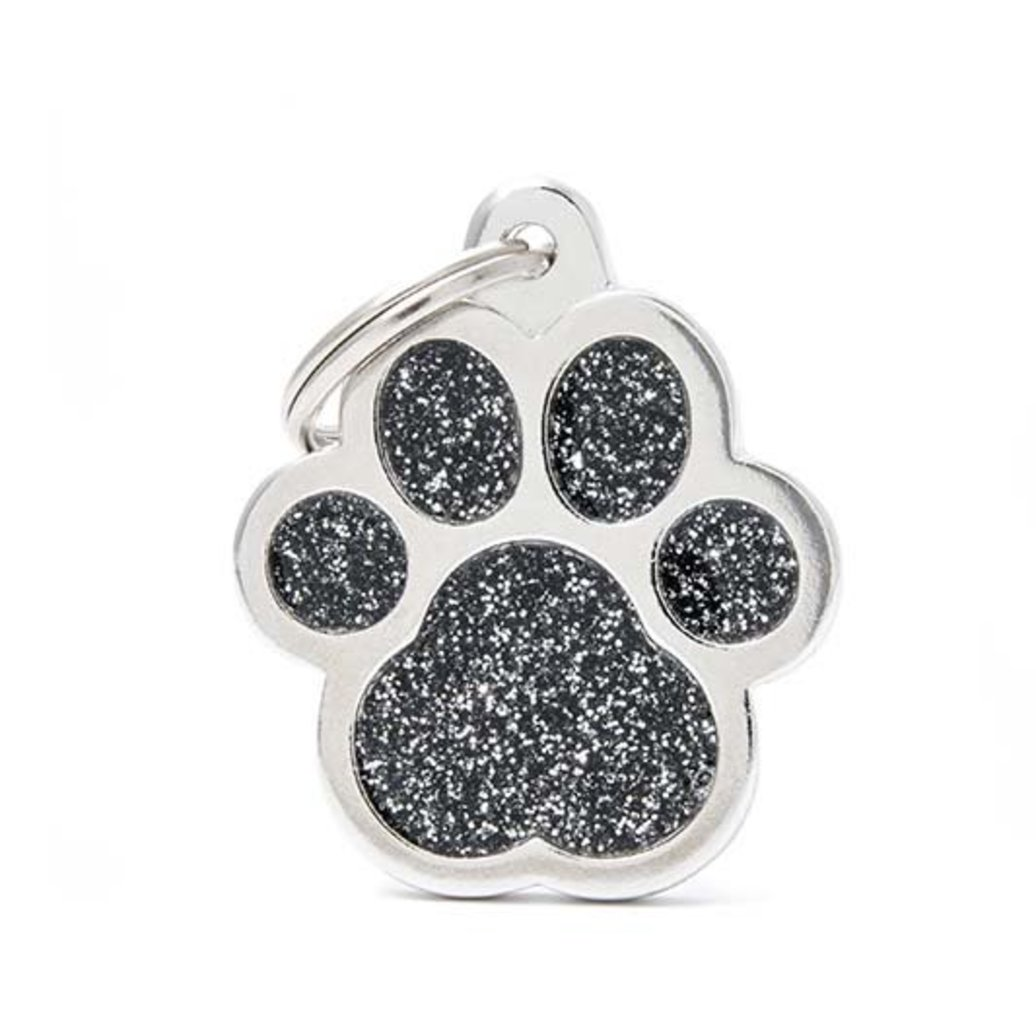 View larger image of Glitter Paw - Black - Big