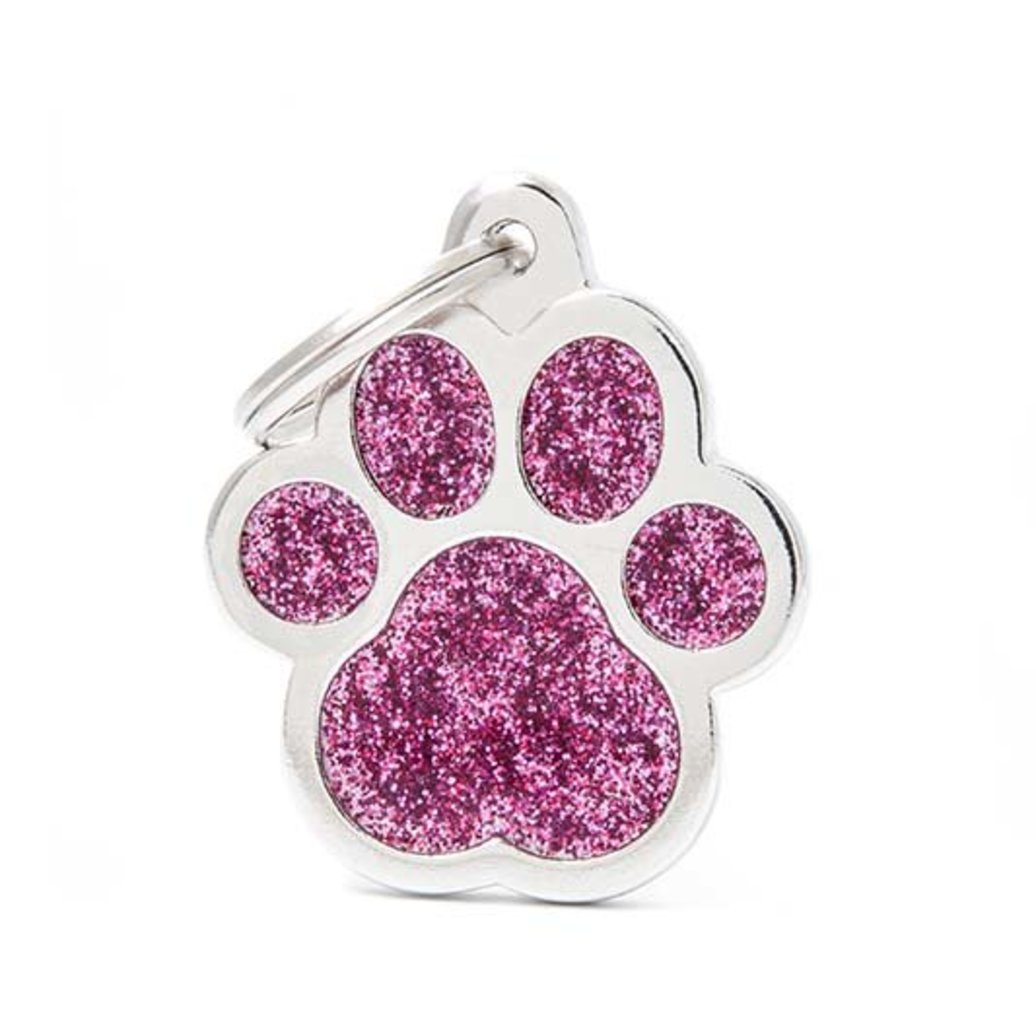 View larger image of Glitter Paw - Pink - Big