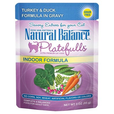 Feline Adult Platefulls Indoor -Turkey & Duck - 85g