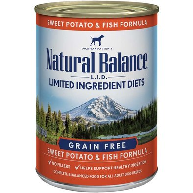 Limited Ingredient Canned Dog Formula, Fish & Sweet Potato - 369 g