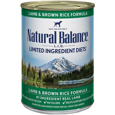 Limited Ingredient Canned Dog Formula, Lamb & Brown Rice - 369 g