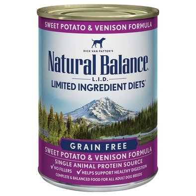Limited Ingredient Canned Dog Formula, Venison & Sweet Potato - 369 g