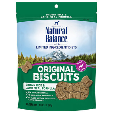 Limited Ingredient Dog Treats Small Breed, Brown Rice & Lamb - 227 g