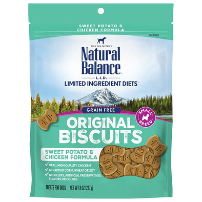 Limited Ingredient Dog Treats Small Breed, Potato & Chicken - 227 g