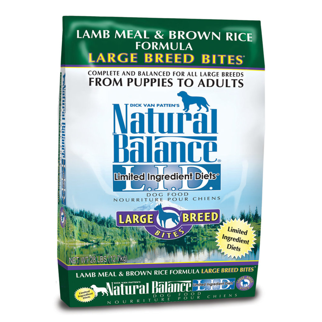 View larger image of Limited Ingredient Large Breed Bites Dry Dog Formula, Lamb Meal & Brown Rice - 12.7