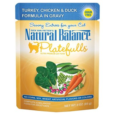 Platefulls Cat Pouch, Turkey, Chicken & Duck Formula in Gravy - 85 g