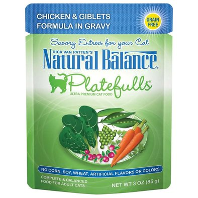 Platefulls Cat Pouch, Turkey, Chicken & Giblets in Gravy - 85 g