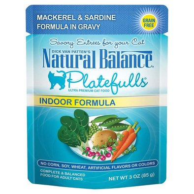Platefulls Cat Pouch, Mackerel & Sardine in Gravy - 85 g