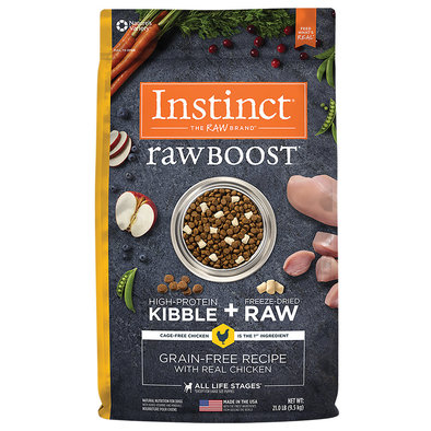 Raw Boost Grain Free Chicken Dry Dog Food - 21 lb