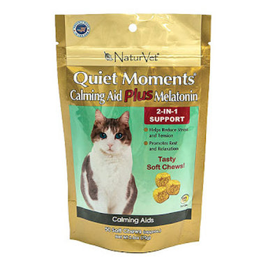 2 in 1 Cat Quiet Moments with Melatonin, Soft Chew - 50 Pk