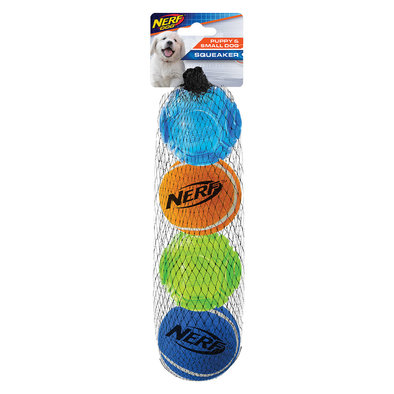 Puppy TPR Sonic Tennis Ball - 4 pk