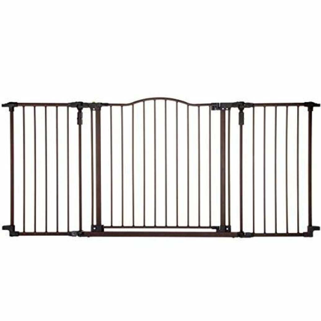 "View larger image of Deluxe Decor Pet Gate - Matt Bronze - 38.3"" to 72"" x 30"""