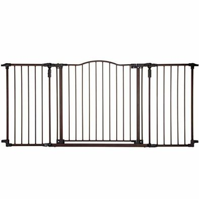 "Deluxe Decor Pet Gate - Matt Bronze - 38.3"" to 72"" x 30"""