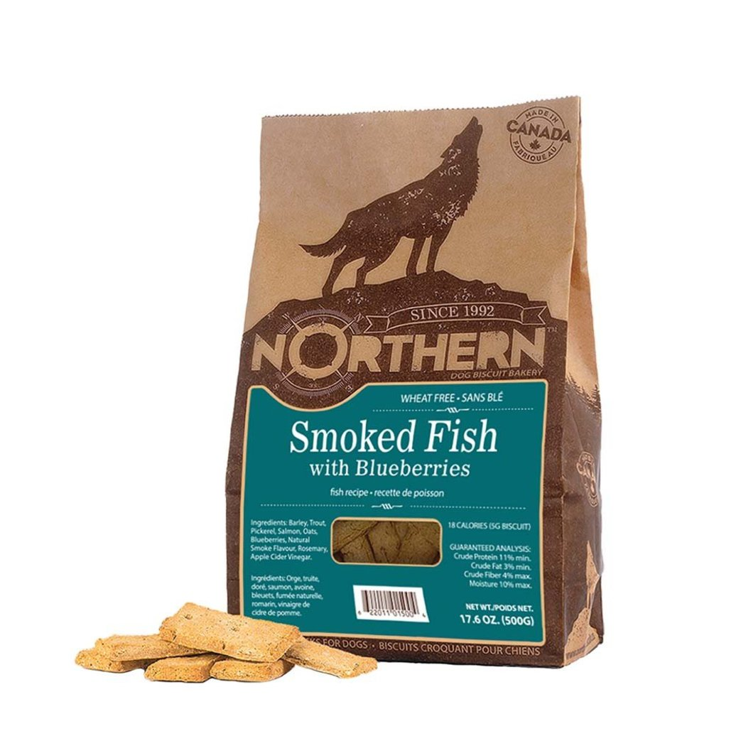 View larger image of Wheat Free, Smoked Fish & Blueberry - 500 g